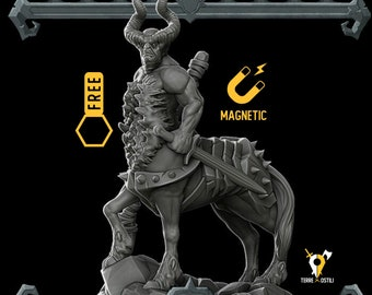 Corrupted Centaur miniature Dungeons and dragons, DnD, Age of Sigmar, W40k, 9th Age, kow, mordheim | RPG tabletop miniature