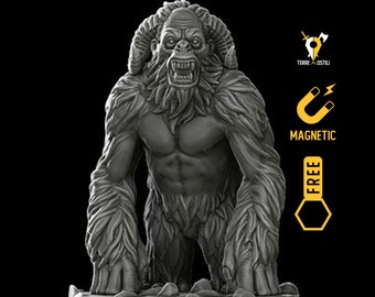 Yeti miniature Dungeons and dragons, DnD , Age of Sigmar, W40k, 9th Age, kow, mordheim   RPG tabletop miniature