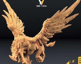 Griffon miniature griffin gryphon Dungeons and dragons, DnD , Age of Sigmar, W40k, 9th Age, kow, mordheim | RPG tabletop miniature