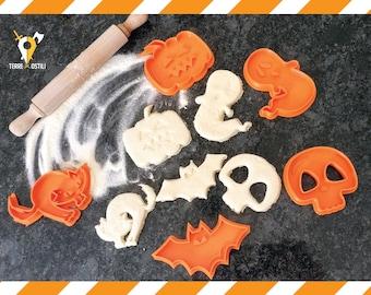 Cookie Cutters Halloween Skull gift I Pumpkin cutter   Ghost cookie cutter  I  Cat I Skull I Bat Chest I Fantasy gift