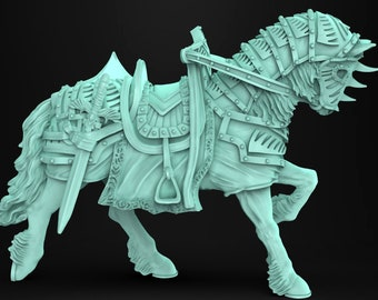 Warhorse miniature animal companion familiar Dungeons and dragons, DnD , W40k, 9th Age, kow, mordheim | RPG tabletop miniature