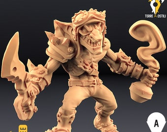 Goblin fighter miniature Dungeons and dragons, DnD , Age of Sigmar, W40k, 9th Age, kow, mordheim   RPG tabletop miniature