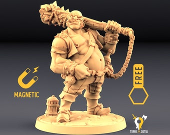 Half ogre bandit miniature Dungeons and dragons, DnD , Age of Sigmar, W40k, 9th Age, kow, mordheim | RPG tabletop miniature