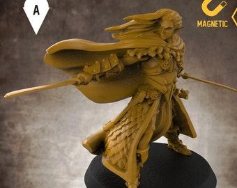 Elf Drow ranger miniature explorer pathfinder, DnD, Dungeons and dragons, Age of Sigmar, frostgrave, mordheim | RPG tabletop miniature