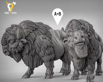 American Buffalo familiar miniature Dungeons and dragons, DnD , Age of Sigmar, W40k, 9th Age, kow, mordheim | RPG tabletop miniature