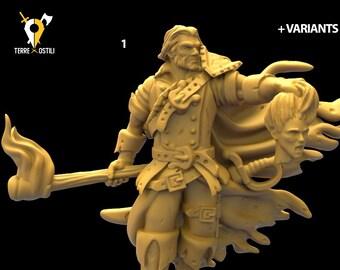 Witch Hunter witcher miniature gunslinger ranger Dnd | Dungeons and dragons D&D RPG tabletop miniature paint free initiative tracker