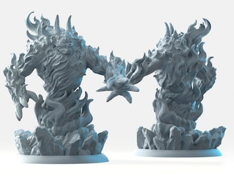 Fire elemental miniature Dungeons and dragons, DnD , Age of Sigmar, W40k, 9th Age, kow, mordheim | RPG tabletop miniature
