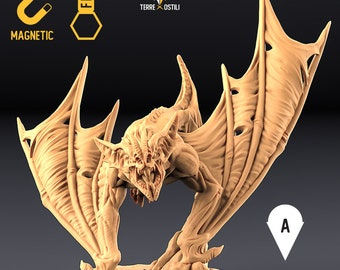 Dire bat Vampire miniature Dungeons and dragons, DnD , Age of Sigmar, W40k, 9th Age, kow, mordheim | RPG tabletop miniature