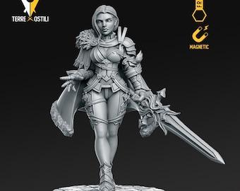 Human princess warrior paladin miniature Dungeons and dragons, pathfinder, DnD , frostgrave, mordheim | RPG tabletop miniature