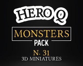Monsters Pack bundle foes heroquest goblin orc chaos witch miniature Dungeons and dragons, DnD , boardgame  mordheim | tabletop miniature