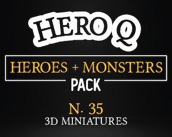 Complete monsters + heroes Pack bundle foes heroes heroquest miniature Dungeons and dragons, DnD , boardgame  mordheim | tabletop miniature