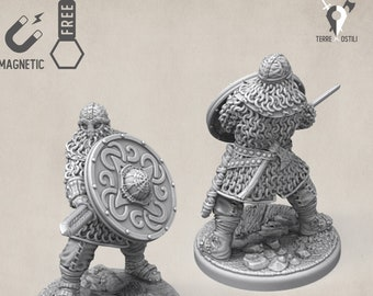 Viking fighter miniature norse warrior Dungeons and dragons, DnD , Age of Sigmar, W40k, 9th Age, kow, mordheim | RPG tabletop miniature