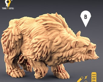 Wild bear miniature Dungeons and dragons, DnD , Age of Sigmar, W40k, 9th Age, kow, mordheim | RPG tabletop miniature
