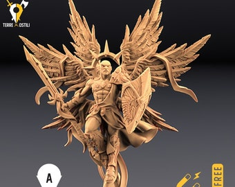 Solar miniature archangel angel Dungeons and dragons, DnD , Age of Sigmar, W40k, 9th Age, kow, mordheim | RPG tabletop miniature