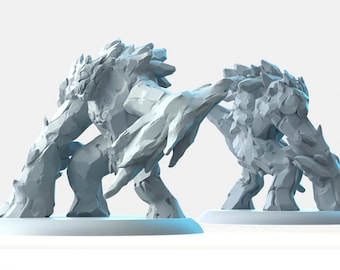 Ice elemental miniature Dungeons and dragons, DnD , Age of Sigmar, W40k, 9th Age, kow, mordheim | RPG tabletop miniature