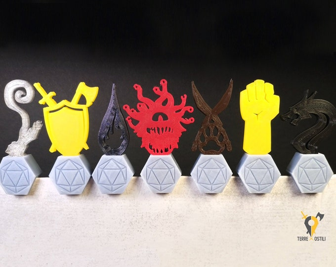 Featured listing image: Initiative Trackers Top Dungeon Master Screen   Resin customizable Dungeons and Dragons Dungeon and Dragon Gift