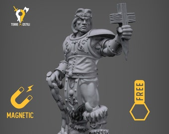 Cleric Castlevania miniature Dungeons and dragons, DnD , Age of Sigmar, W40k, 9th Age, kow, mordheim | RPG tabletop miniature
