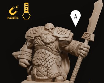 Dwarf guardian miniature dwarven infantry pathfinder, DnD, Dungeons and dragons, Age of Sigmar, frostgrave | RPG tabletop miniature