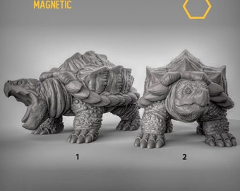Snapping turtle miniature Dungeons and dragons , Age of Sigmar, W40k, 9th Age, kow, mordheim | DnD RPG tabletop miniature