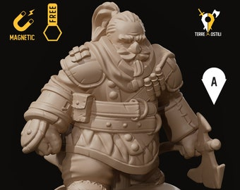 Dwarf rogue miniature ranger pathfinder, DnD, Dungeons and dragons, Age of Sigmar, frostgrave | RPG tabletop miniature