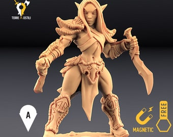 Elf rogue ranger miniature Dungeons and dragons, DnD , Age of Sigmar, W40k, 9th Age, kow, mordheim   RPG tabletop miniature