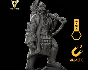 Artificer engineer miniature Dungeons and dragons, DnD , Age of Sigmar, W40k, 9th Age, kow, mordheim | RPG tabletop miniature