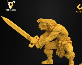 Barbarian heroquest miniature Dungeons and dragons, DnD , Age of Sigmar, W40k, 9th Age, kow, mordheim | RPG tabletop miniature