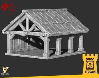 Lumbermill logger wood terrain building | Medieval fantasy | Scenery | 28 - 32mm scale |   D&D | Pathfinder