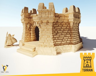Tower guard castle building terrain | Medieval fantasy | wargame Scenery | | 28 - 32mm scale |   D&D | Pathfinder
