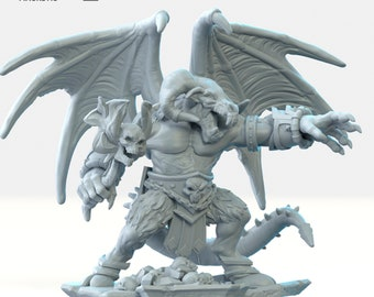 Orcus Demon prince miniature Dungeons and dragons, DnD , Age of Sigmar, W40k, 9th Age, kow, mordheim | RPG tabletop miniature