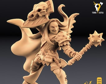 Cleric human monster hunter miniature Dungeons and dragons, DnD , Age of Sigmar, W40k, 9th Age, kow, mordheim | RPG tabletop miniature