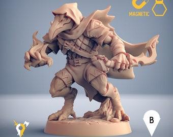 Tengu rogue warlock assassin ranger kenku miniature Dungeons and dragons, pathfinder, DnD , Age of Sigmar, mordheim   RPG tabletop miniature