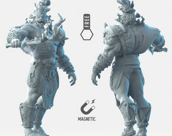 Fire Giant miniature Dungeons and dragons, DnD , Age of Sigmar, W40k, 9th Age, kow, mordheim   RPG tabletop miniature