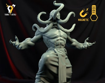 Illithid king warrior miniature Dungeons and dragons mind flayer, DnD , Age of Sigmar, W40k, 9th Age, kow, mordheim | RPG tabletop miniature