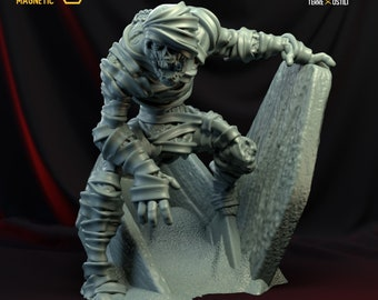 Mummy zombie miniature Dungeons and dragons, DnD , Age of Sigmar, W40k, 9th Age, kow, mordheim | RPG tabletop miniature