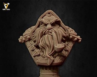 Dwarf warlock bust miniature Dungeons and dragons, pathfinder, DnD , frostgrave, mordheim | RPG tabletop miniature