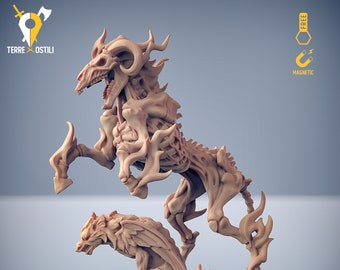 Nightmare demon horse miniature Dungeons and dragons, pathfinder, DnD, Age of Sigmar frostgrave, mordheim RPG tabletop miniature