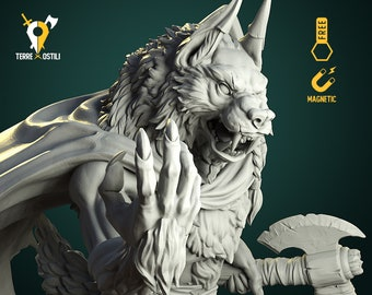 Karrash the shadow death Werewolf miniature Dungeons and dragons, pathfinder, DnD , frostgrave, mordheim | RPG tabletop miniature