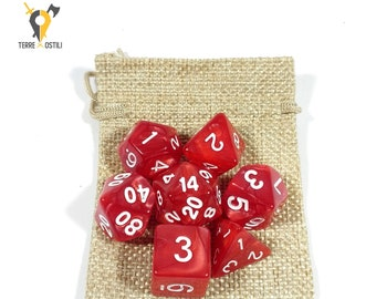 Red anger 7 Dice Set for DnD, Dungeons and Dragons, Pathfinder, Vampire The Masquerade, RPG as Critical Role| Nerd Gift