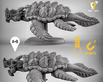 Dragon turtle miniature Dungeons and dragons, DnD , Age of Sigmar, W40k, 9th Age, kow, mordheim   RPG tabletop miniature