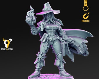 Vampire hunter Human Inquisitor miniature Dungeons and dragons, pathfinder, DnD , frostgrave, mordheim   RPG tabletop miniature