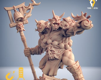 Ogre magi warlock miniature oni Dungeons and dragons, pathfinder, DnD , Age of Sigmar, frostgrave, mordheim | RPG tabletop miniature