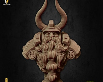 Dwarf champion bust miniature Dungeons and dragons, pathfinder, DnD , frostgrave, mordheim | RPG tabletop miniature