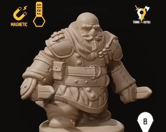 Dwarf rogue miniature bandit pathfinder, DnD, Dungeons and dragons, Age of Sigmar, frostgrave | RPG tabletop miniature