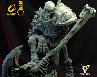 Skeleton Champion colossus miniature Dungeons and dragons, DnD , Age of Sigmar, W40k, 9th Age, kow, mordheim | RPG tabletop miniature