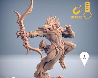 Aarakocra archer birdfolk tengu kenku miniature Dungeons and dragons, pathfinder, DnD , Age of Sigmar, mordheim | RPG tabletop miniature