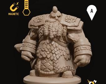 Dwarf brawler miniature dwarven infantry pathfinder, DnD, Dungeons and dragons, Age of Sigmar, frostgrave, mordheim | RPG tabletop miniature