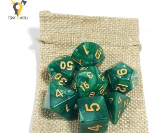 7 Dice Set for DnD, Dungeons and Dragons, Pathfinder, Vampire The Masquerade, RPG as Critical Role| Nerd Gift