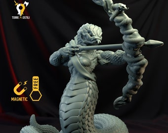 Yuan-ti archer serpentfolk miniature snake Dungeons and dragons, DnD , Age of Sigmar, W40k, 9th Age, kow, mordheim | RPG tabletop miniature