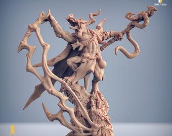Kobold shaman wizard sorcerer miniature Dungeons and dragons, pathfinder, DnD , Age of Sigmar, frostgrave, mordheim | RPG tabletop miniature